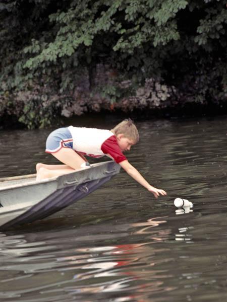 Kids and catfish for Jug line fishing