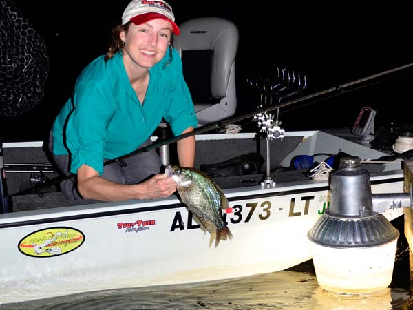 Crappie bite in hot weather and on dark nights for Crappie fishing at night