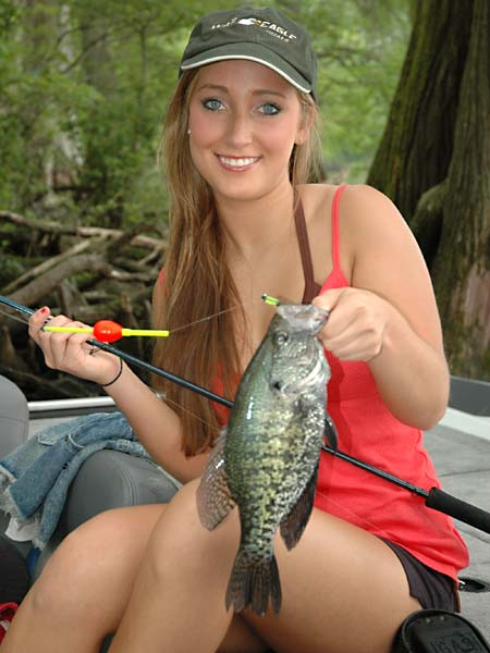 Have a family crappie fishing farm for How to fish for crappie from the bank