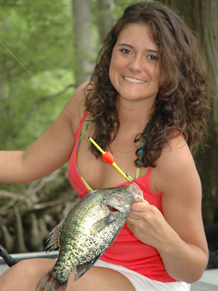Have a family crappie fishing farm for Crappie fishing at night
