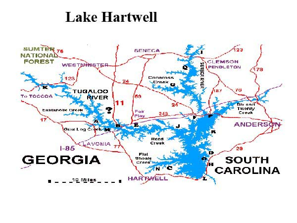 How i plan to fish the 2008 bassmaster classic with greg for Lake hartwell fishing hot spots